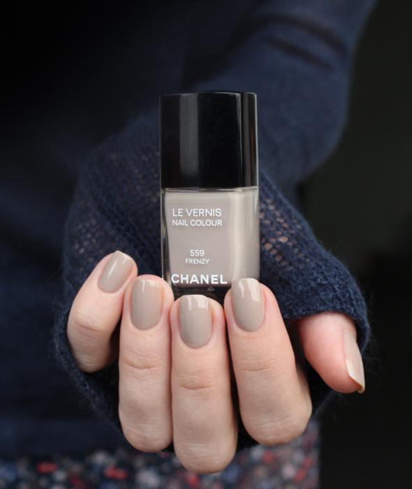 Chanel Frenzy with blue half moons – Mari\'s Nail Polish Blog