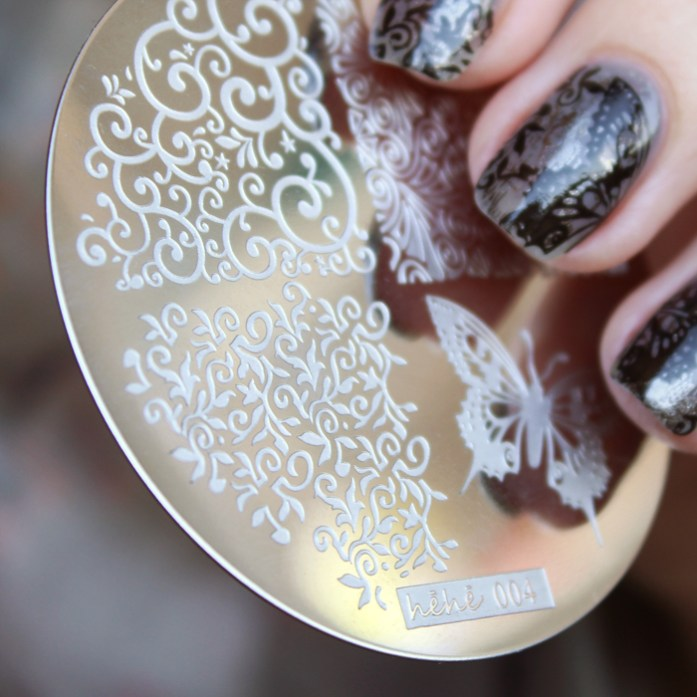 hehe stamping plate 004 lace