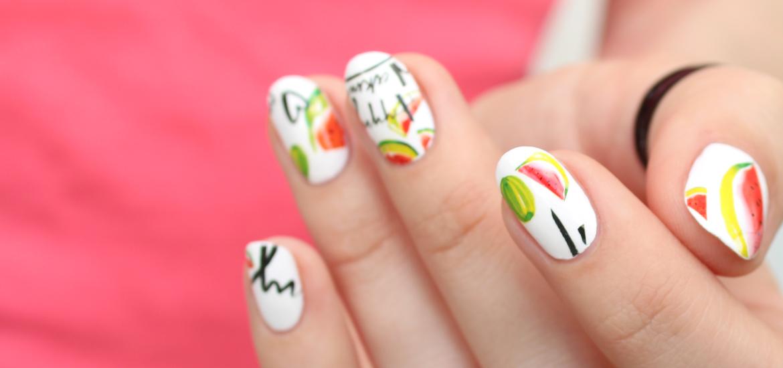 Watermelon nail decals
