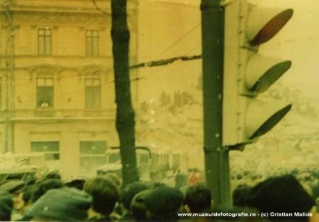 Cladiri distruse in Piata Rosetti. Probabil pe strada Hristo Botev