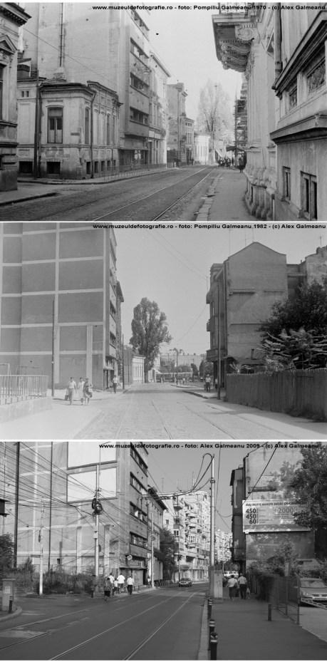 Sf. Vineri la intersectia cu Stelea Spatarul. Comparatie 1970, 1982, 2009.