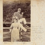 Bob Dangar & Miss Stephen, ca. 1885 / albumen photoprint by Reginald Neville Dangar.