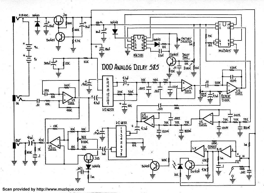 analog delay pedal schematic