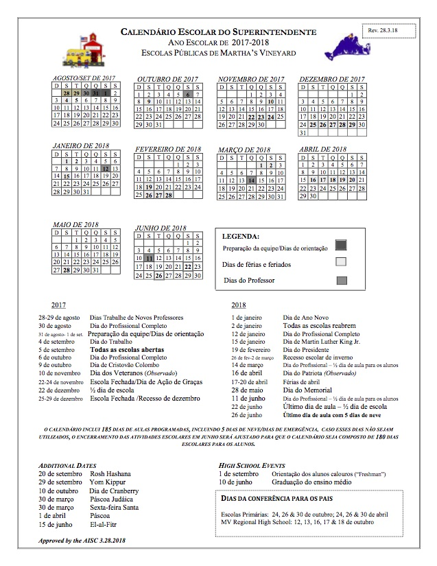 2017-2018 Calendar_Portug REVISED 32818 - MVRHS