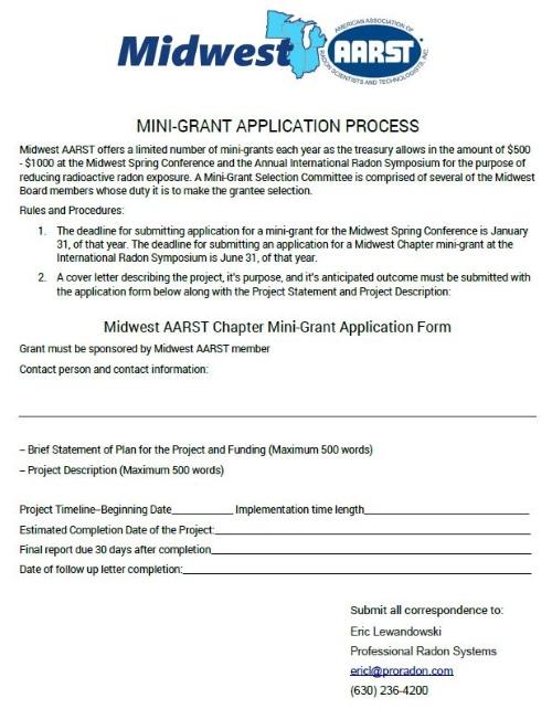 Mini-Grant - Midwest AARST