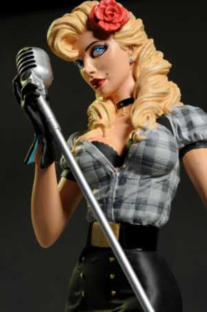Pretty Girl Cartoon Wallpaper Review And Photos Of Dc Bombshells Black Canary Statue