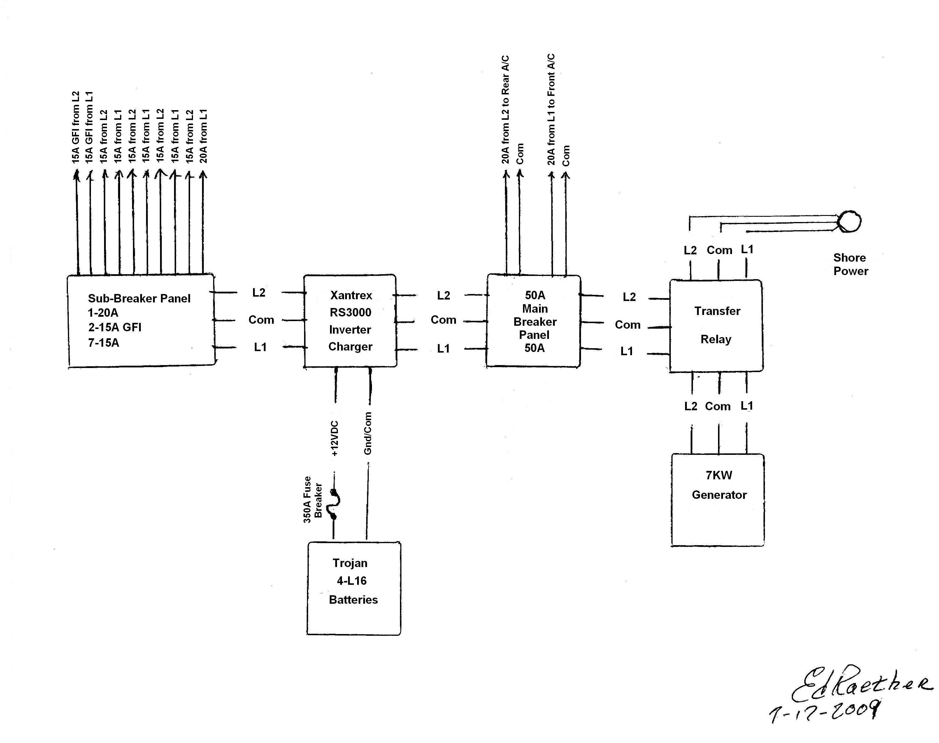 Of The Electrical System Is Powered By A Xantrex Inverter ... Xantrex Inverter Wiring Diagram on