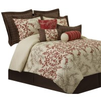 Lush Decor Hester 8-Piece Comforter Set - Queen - Red ...