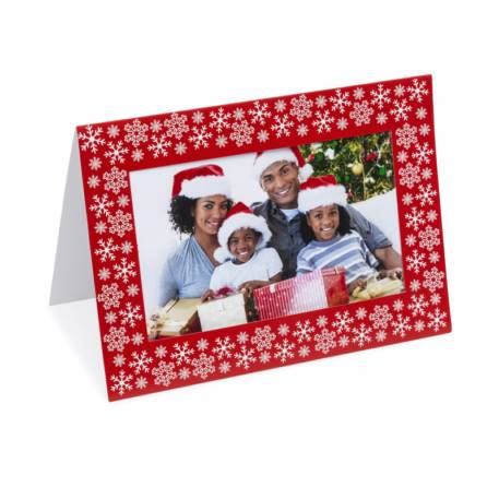 Photo Insert Christmas Cards Red Make Your Own Aperture Frame Insert
