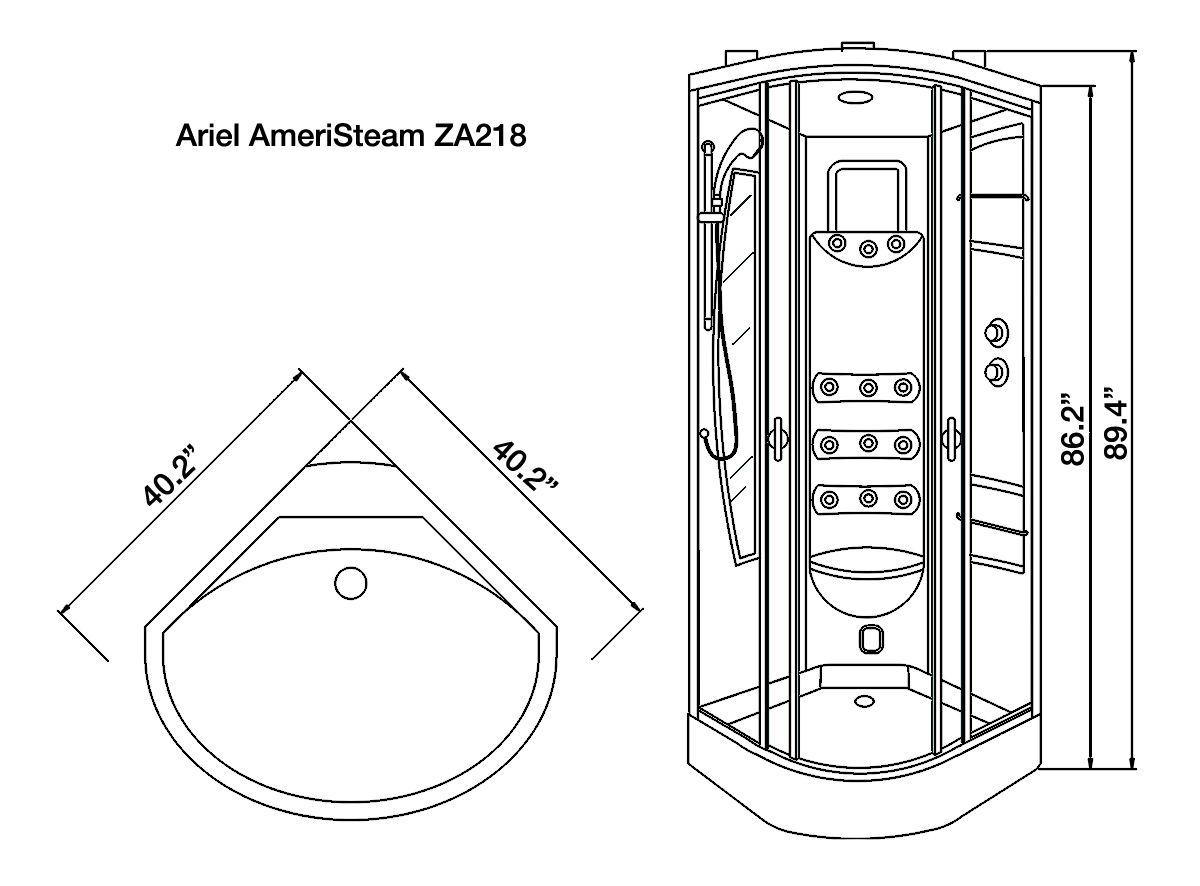 ariel steam shower wiring diagram
