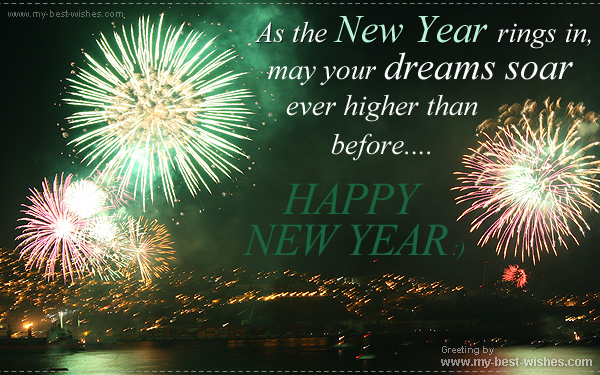 Happy New Year E Cards ~ Greetings