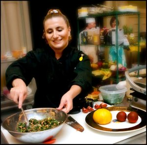 a me cooking at uncorked