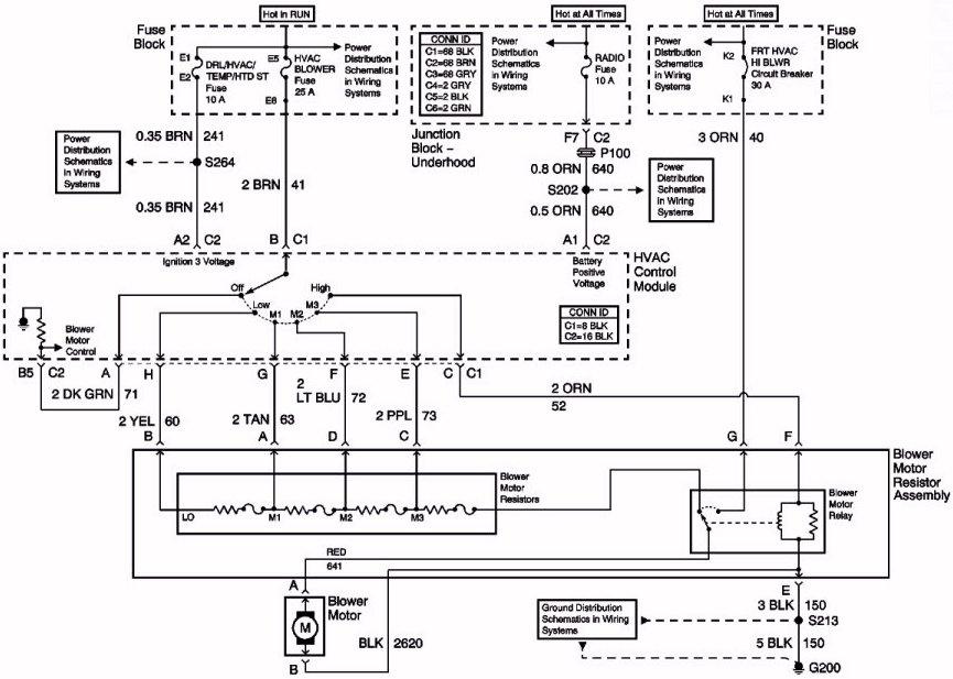hvac blower motor relay wiring diagram