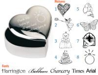 Personalised Engraved Heart Trinket Box Bridesmaid Gift | eBay