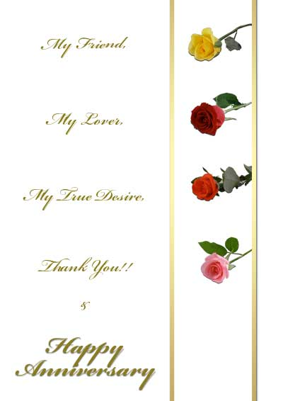 Free Printable Roses Anniversary Cards - free printable anniversary cards for her