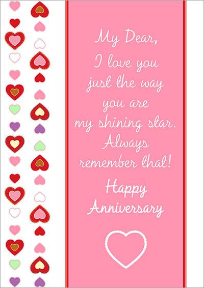 Free Printable Anniversary Cards - free printable anniversary cards for her