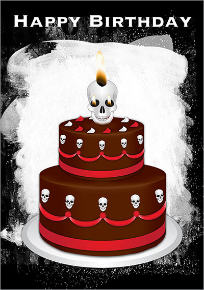 Printable Gothic Cards - birthday cards free download printable