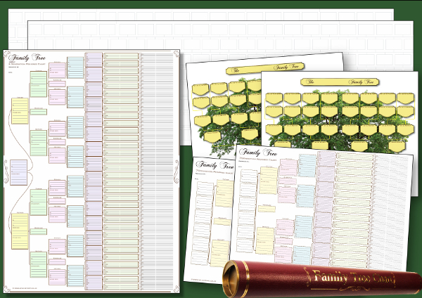 Compact Family Tree Charts Pack