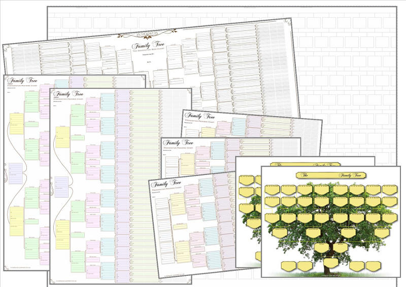 Large Family Tree Charts Pack