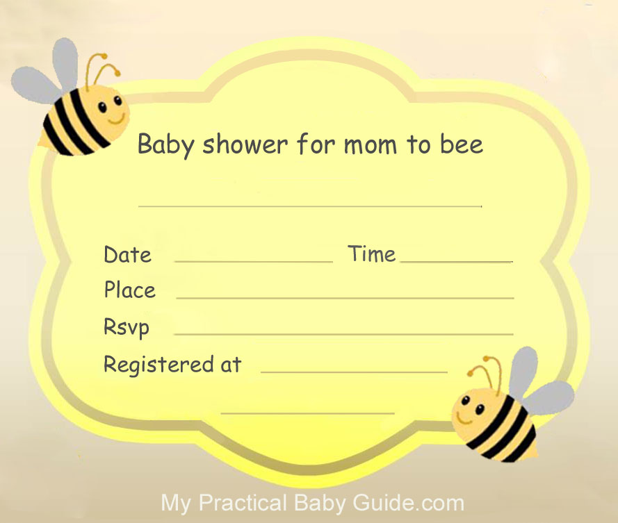 Cute Bumble Bee Baby Shower - My Practical Baby Shower Guide