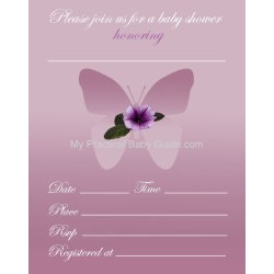 Imposing Free Printable Flower Butterfly Baby Shower Inviation Free Printable Girl Baby Shower Invitations My Practical Baby Tinyprintsshopbaby Shower Invitations Girlsm