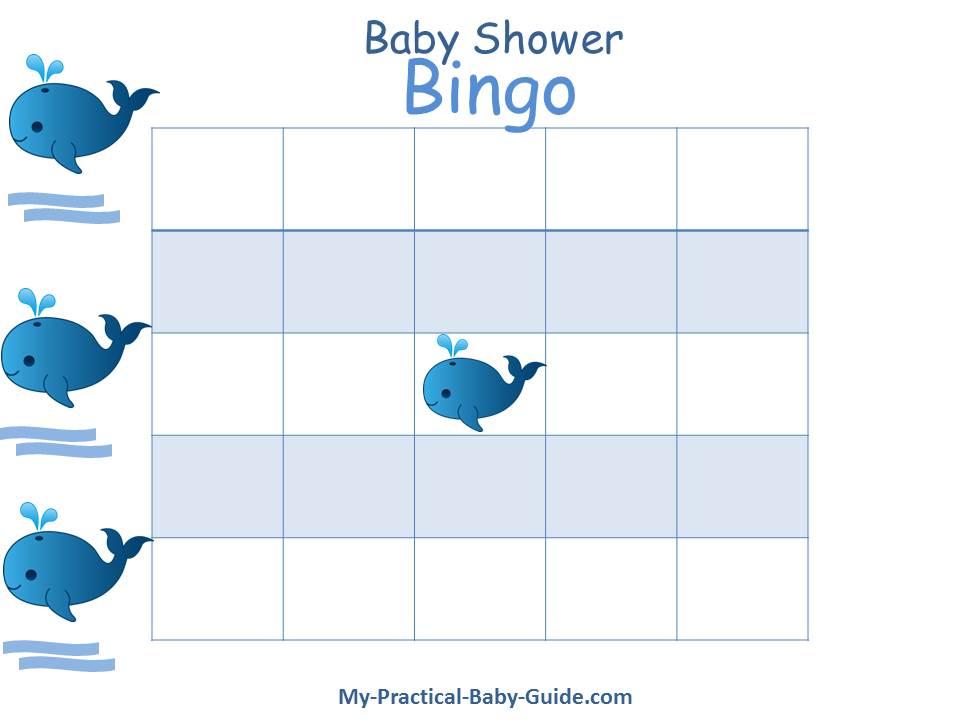 Baby Shower Gift Bingo - My Practical Baby Shower Guide - blank bingo card template