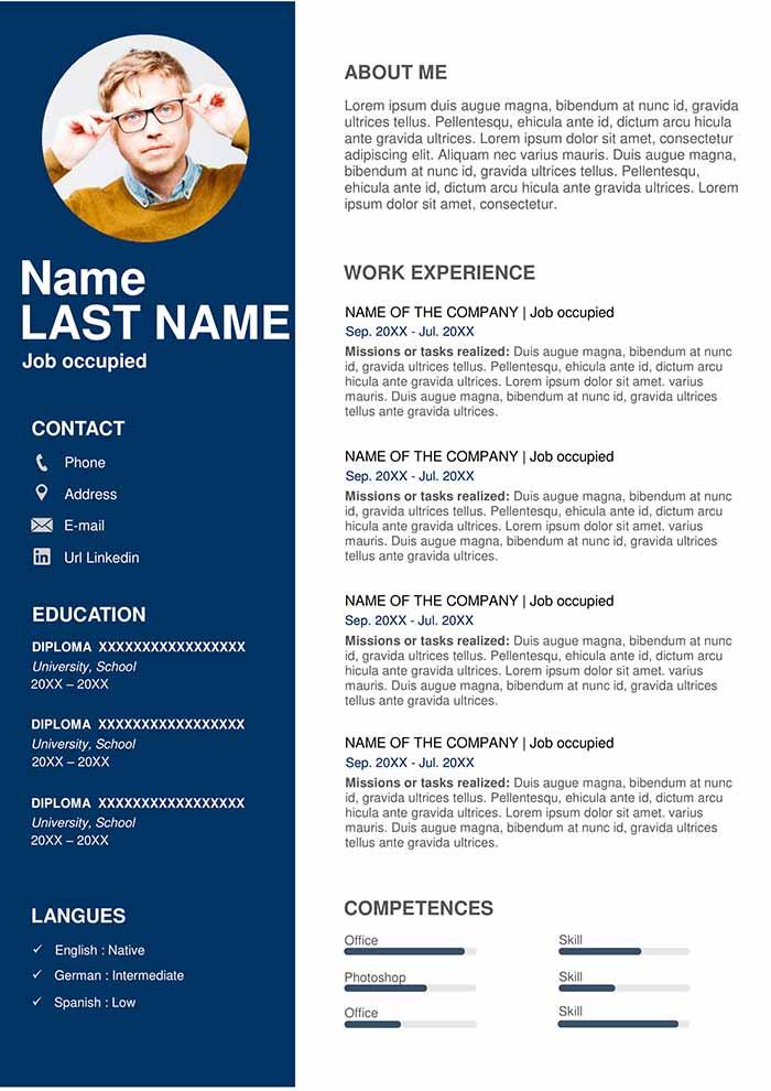 professional resume types