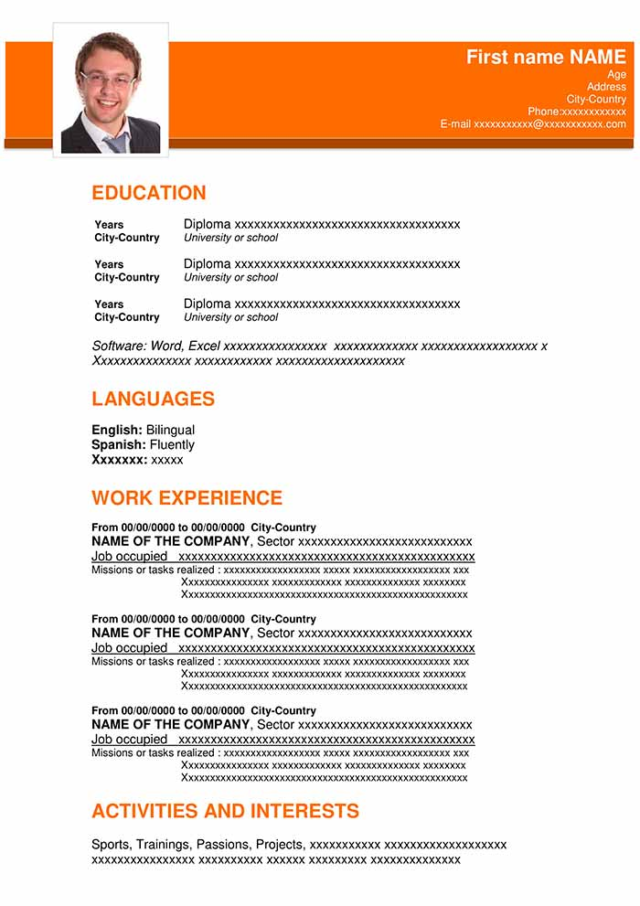 resume template in word 2013