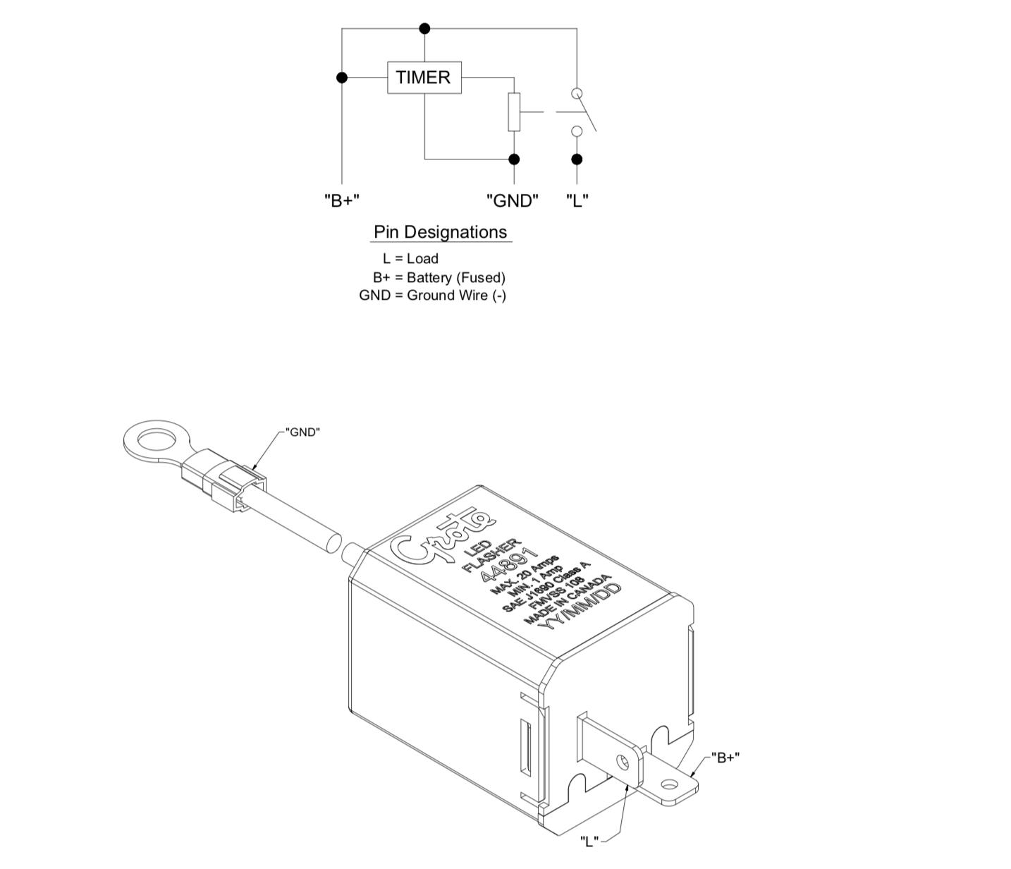 30 amp relay wiring kit