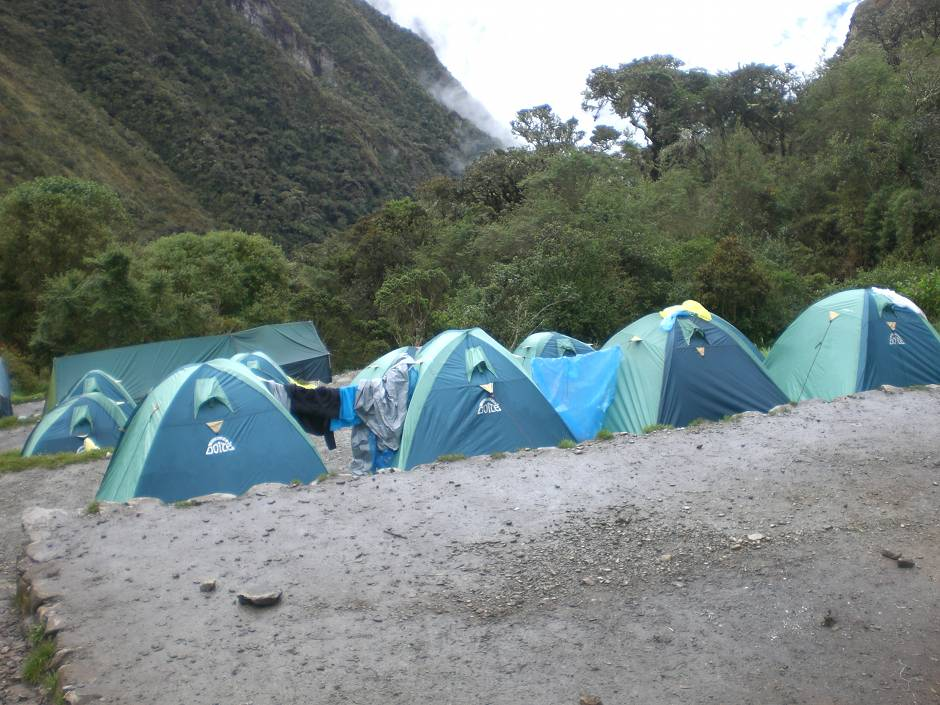 Campsite on day 2