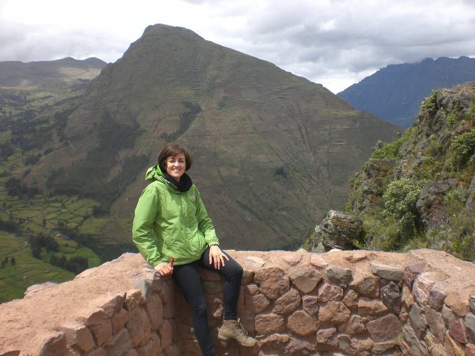A gorgeous view from Ollantaytambo archeological site, Sacred Valley