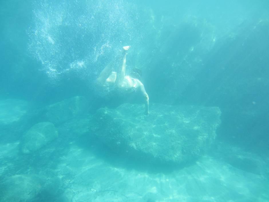 Snorkeling around Feraxi, one of Sardinia beaches