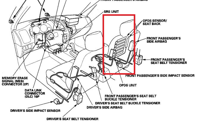 wiring diagram for air bags