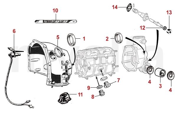 Alfa Romeo Anbauteile - Getriebe 101 - Getriebe - Antrieb - Alfa