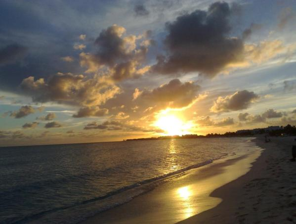My Anguilla Experience enjoying a Rendezvous Bay sunset