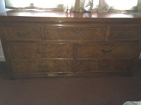 I Have A Bedroom Set Of Midcentury Retro Style Burl Wood ...