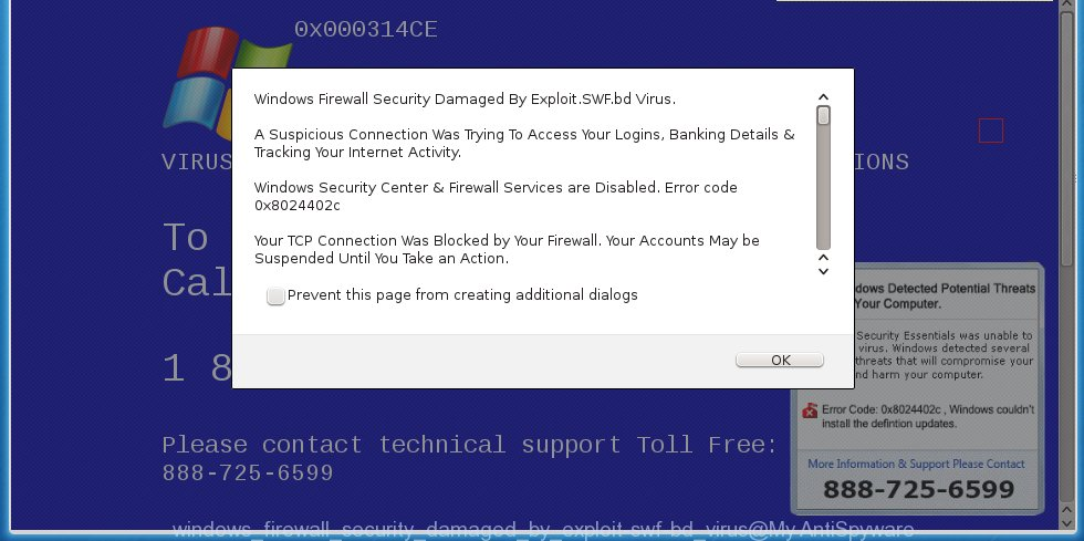 Windows Firewall Security Damaged By ExploitSWFbd Virus\