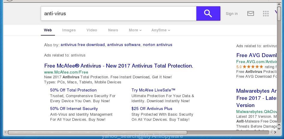 How to remove Yahoo Search virus Chrome, Firefox, IE, Edge
