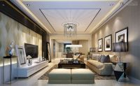 ceiling design ideas for living room with tall chandelier
