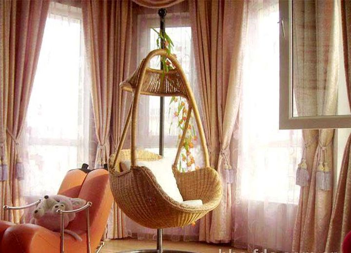 20 adorable and comfy bedroom swing chairs. Black Bedroom Furniture Sets. Home Design Ideas