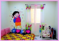 kids rooms paint ideas with wall decal