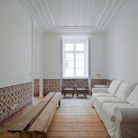 minimalist Japanese inspired long living room ideas