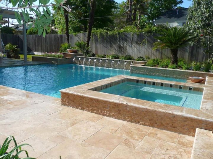 19 reposeful pool with spa designs for modern homes for Pool and spa designs