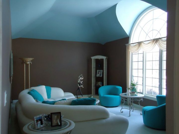 17 breathtaking turquoise living room ideas for Black white turquoise bedroom ideas