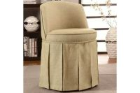 simple minimalist vanity chair with skirt