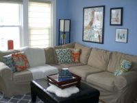 17 Pleasant Blue and Brown Living Room Designs