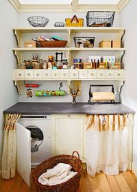 small kitchen and small laundry room storage solutions
