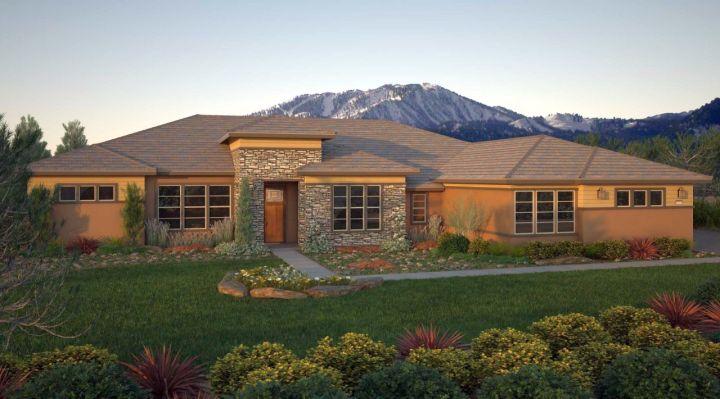 A modern twist on classic prairie style house for Modern prairie style homes