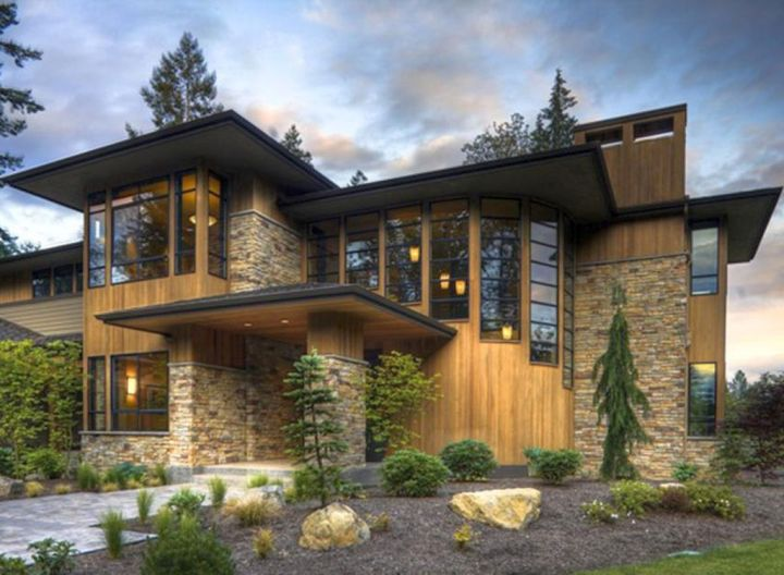 A modern twist on classic prairie style house for Prairie house designs