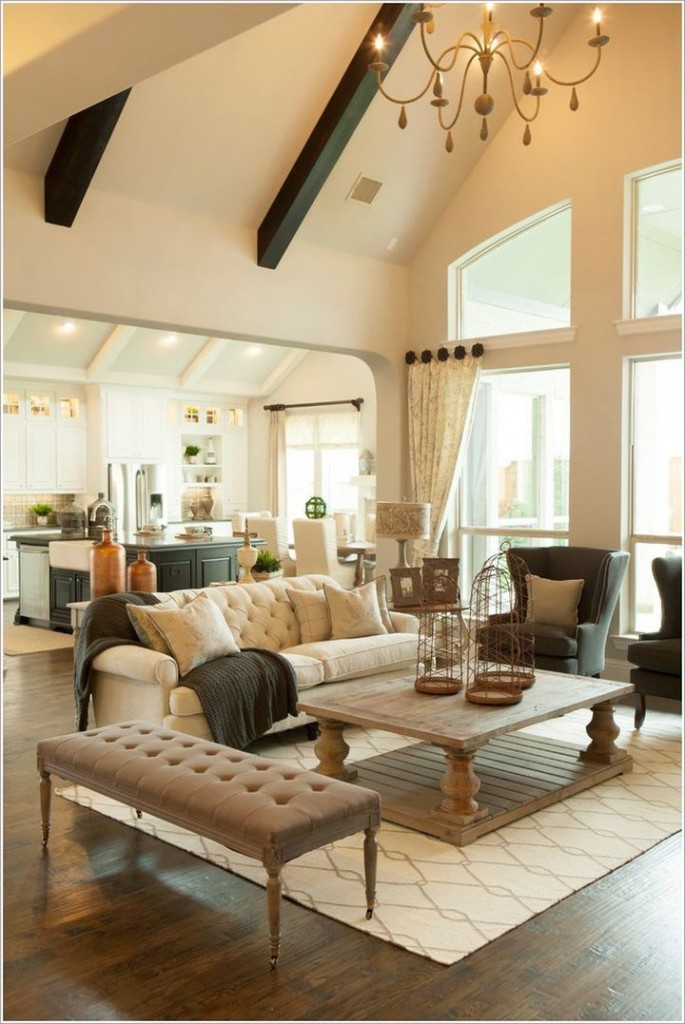 20 Spacey Cathedral Ceiling Living Room Designs